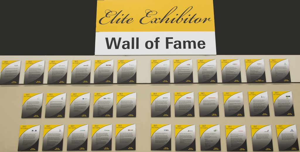 Elite Exhibitor Wall of Fame